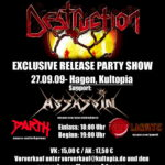Release Party Show: Destruction - The Curse of the Antichrist Live in Agony