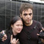 Cathrin mit Dero (Oomph!) - Foto: Gisela Schmitz (Spider Rock Promotion)