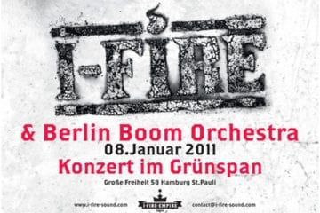 Flyer: I-Fire im hamburger Grünspan 2011
