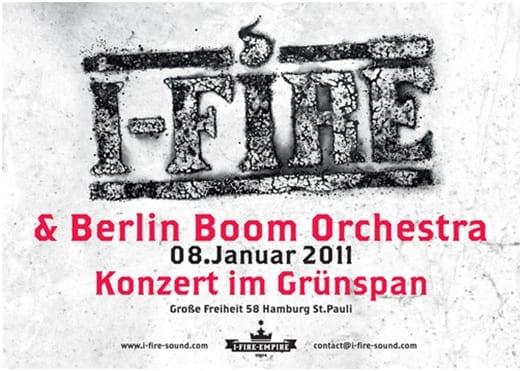 Flyer: I-Fire im hamburger Grünspan 2011