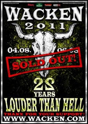 Wacken Open Air 2011: Ausverkauft!