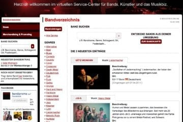 Screenshot: bandpromo.de
