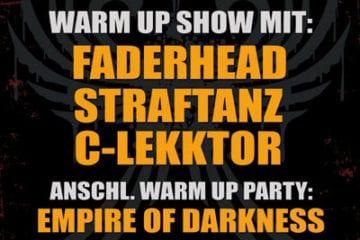 Blackfield Festival 2011: Querfurt abgesagt - Warm Up Show in Bochum