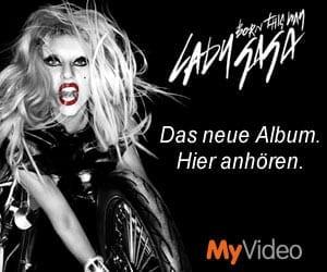 Lady Gaga Prelistening bei MyVideo