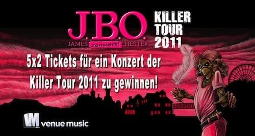 5x2 Tickets für ein Konzert der J.B.O. Killer Tour 2011 zu gewinnen!