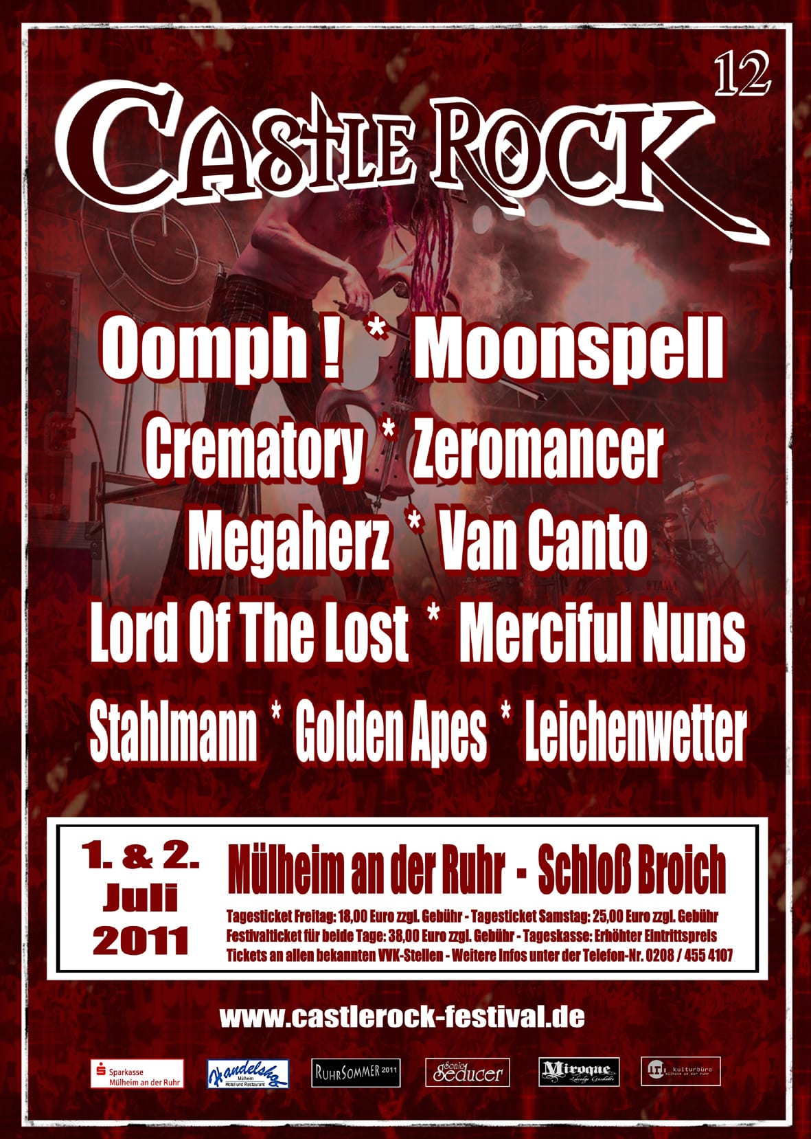 Castle Rock 2011 - Flyer (Quelle/Autor: Michael Bones/Kulturbetrieb)