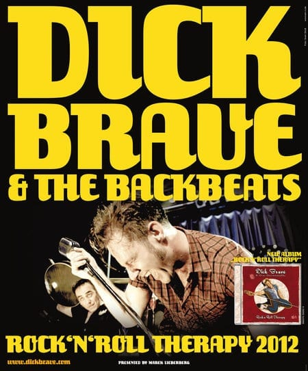 Flyer: Dick Brave & the Backbeats Tour 2012
