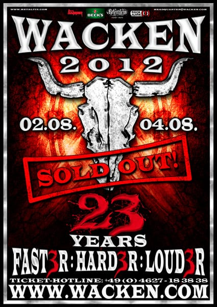 Official Flyer - Wacken Open Air 2012