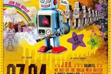 Flyer: 10 Jahre Wurmfestival