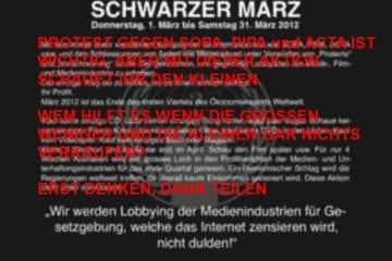 Kein schwarzer März - Protest von Mathias