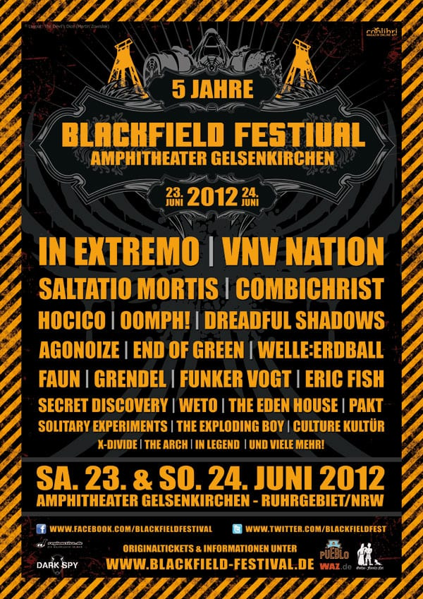 Official Flyer: Blackfield Festival 2012