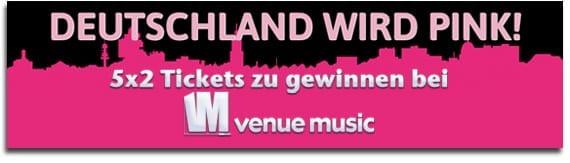 Deutschland wird pink! Killer Tour 2012 Verlosung bei venue music!