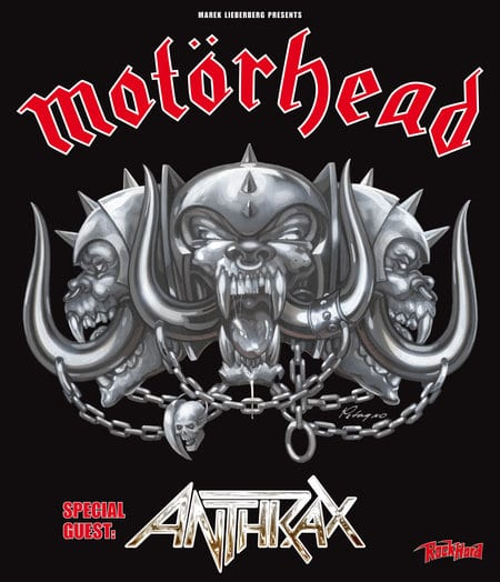 Flyer: Tour Motörhead - Anthrax 2012