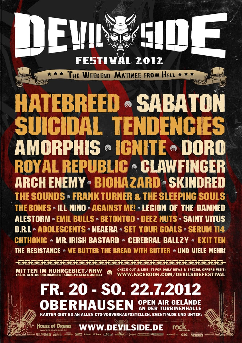 Official Flyer: Devil Side Festival 2012