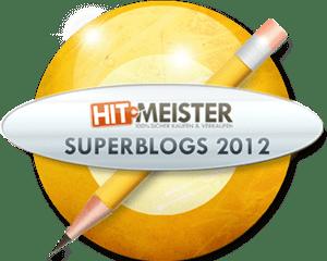 Wir sind nominiert: Hitmeister Superblogs 2012