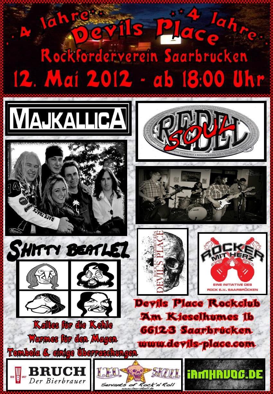 Flyer: Vier Jahre Devils Place Saarbrücken