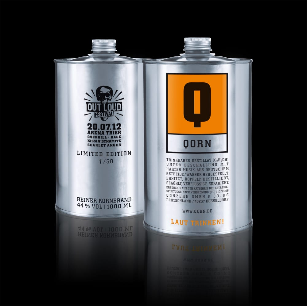 """Qorn Special Edition """"Out Loud Festival"""" - 1 Liter Dose"""