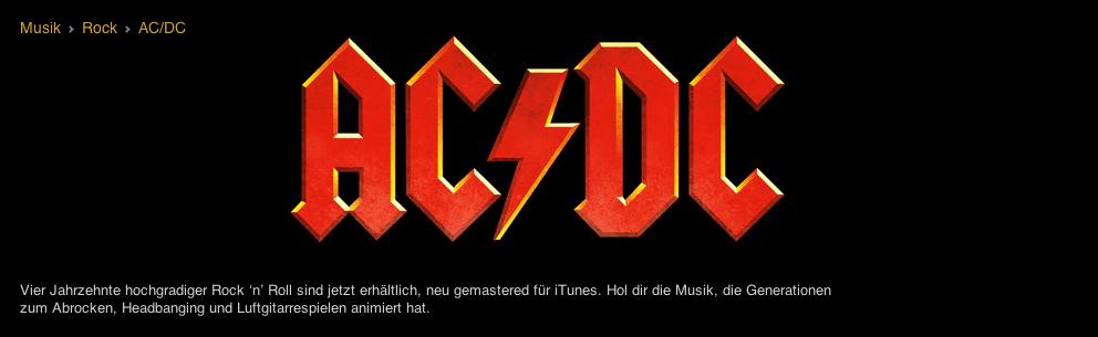 AC/DC bei iTunes
