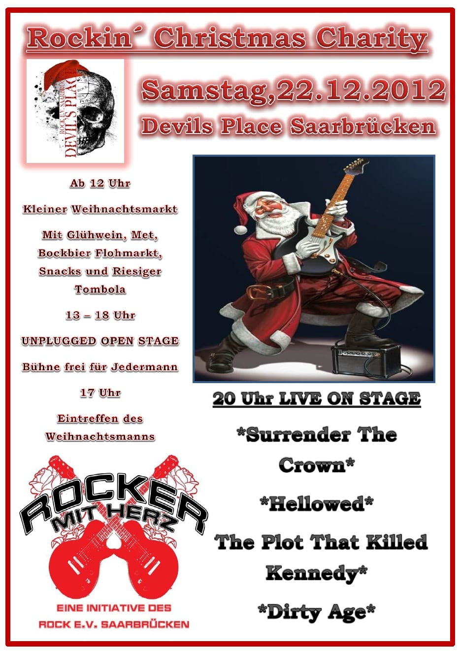 Devils Place Saarbrücken Christmas Charity 2012 Flyer