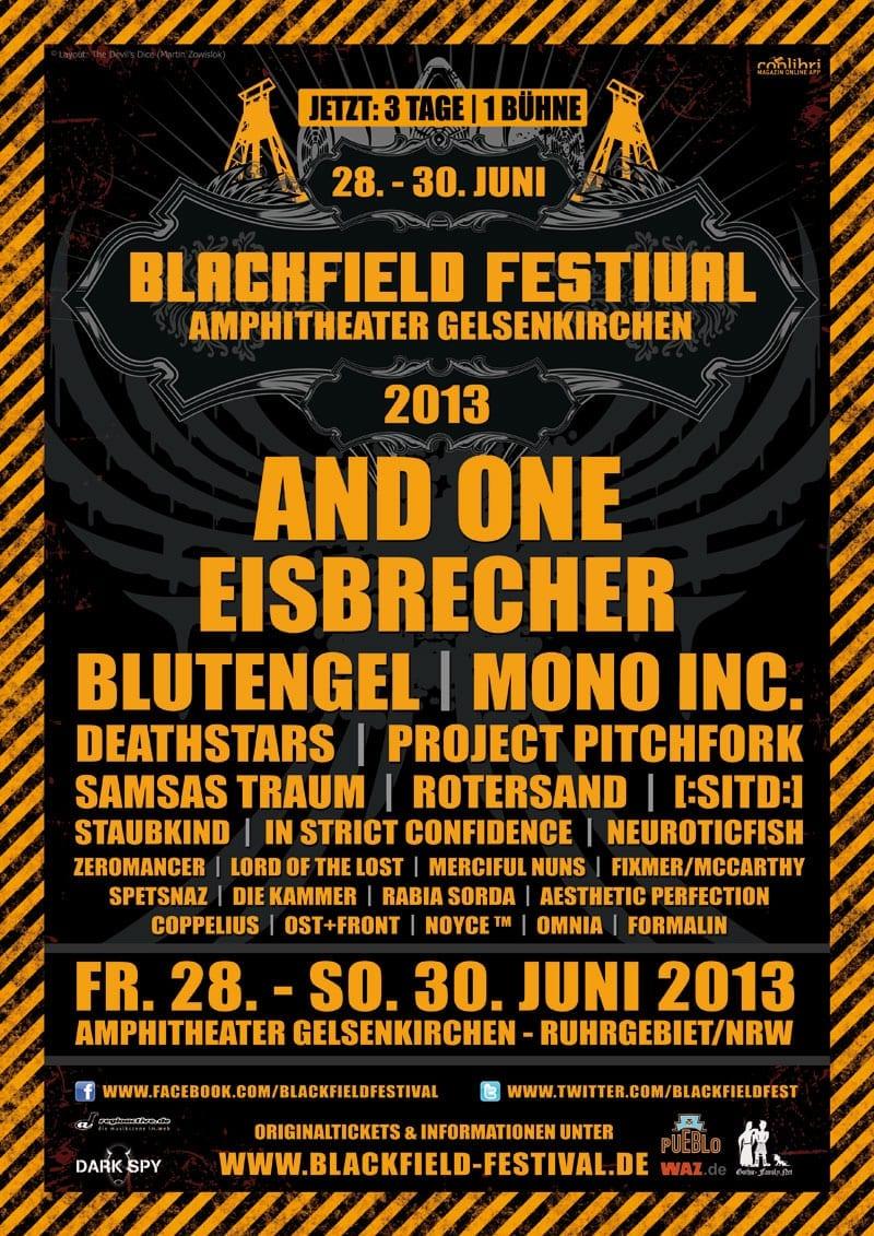 official Flyer: Blackfield Festival 2013