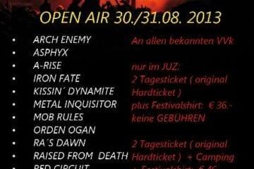 Summers End Festival 2013: bisher 14 Bands für 2 Tage bestätigt