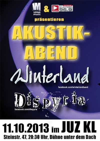Akustik-Abend mit Winterland und Dispyria