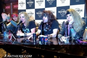 Steel Panther Pressekonferenz Paris 30.01.2014