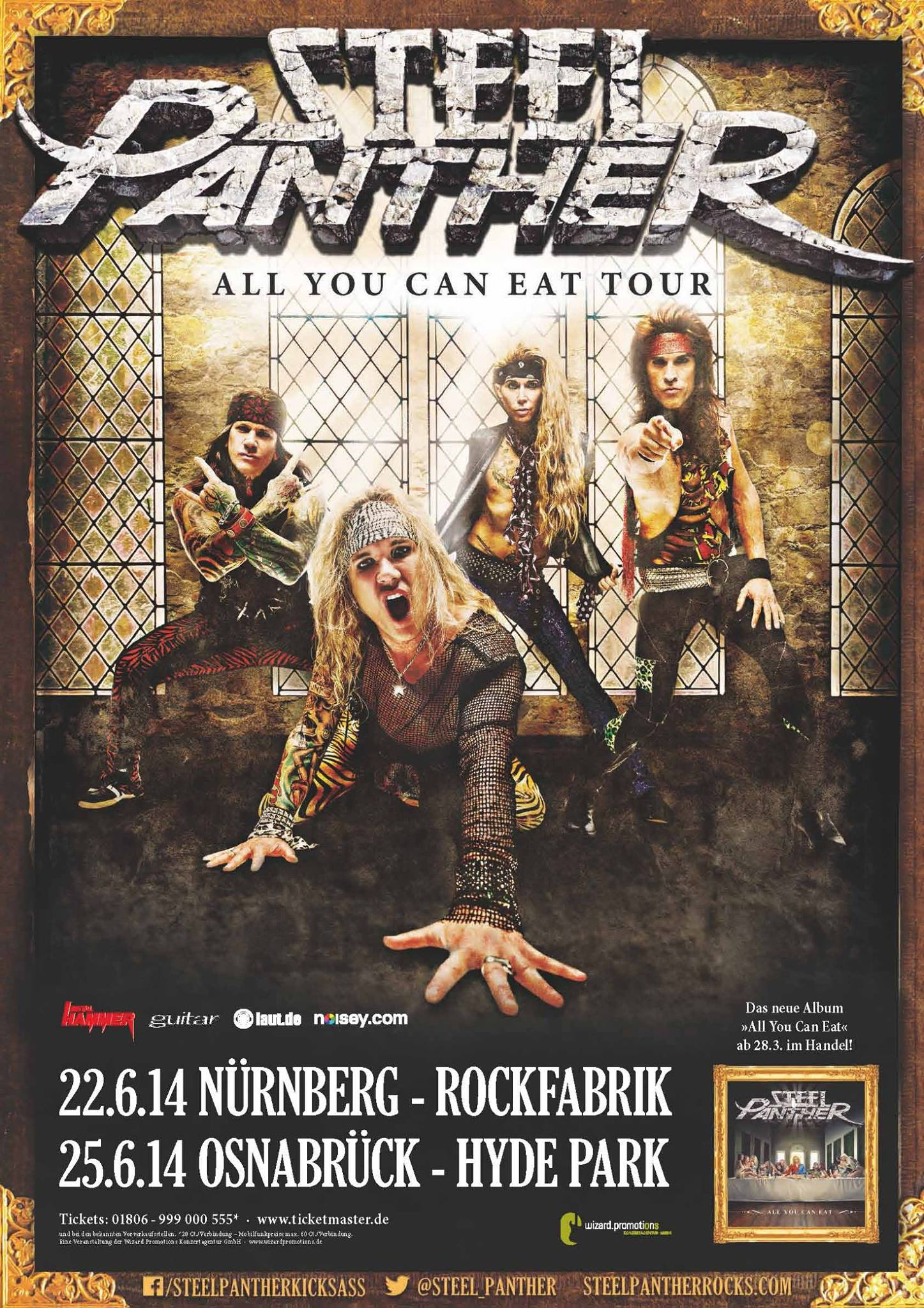 Steel Panther - All You Can Eat Germany June 2014