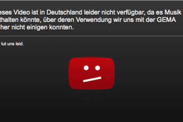 Google ändert YouTube-Sperrmeldung