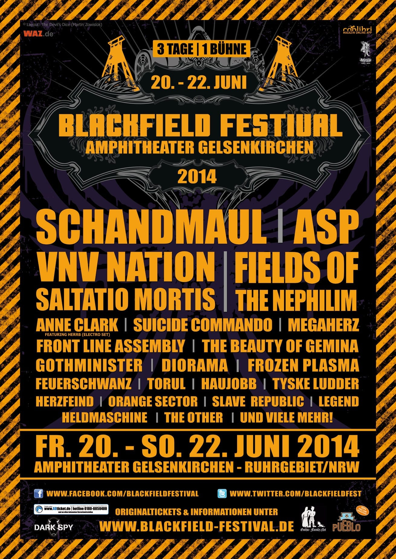 official Flyer: Blackfield Festival 2014