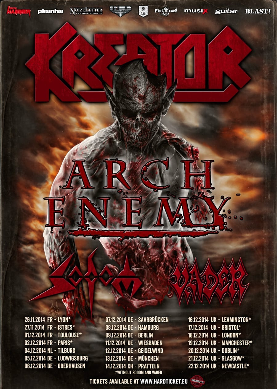 Official Flyer: Kreator Tourdates 2014