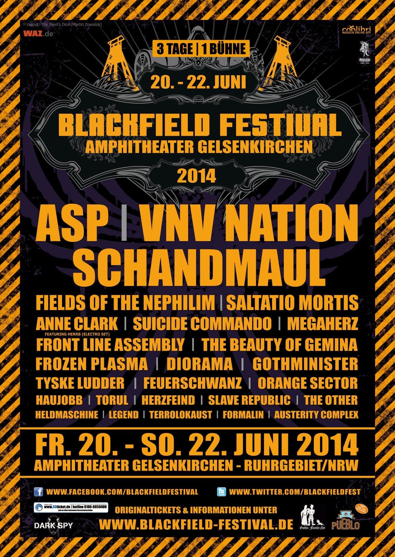 official Flyer: Blackfield Festival 2014