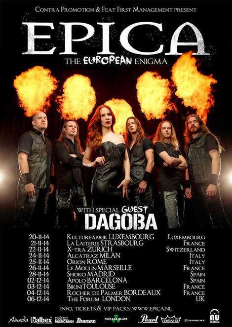 official Flyer: Epica-Tour 2014