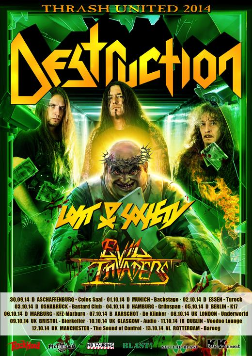 Flyer: Destruction Tour 2014