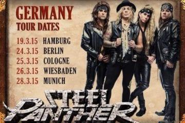 Steel Panther: Fünf Deutschland-Konzerte im März 2015