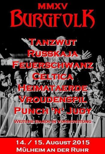 Flyer: Burgfolk Festival 2015