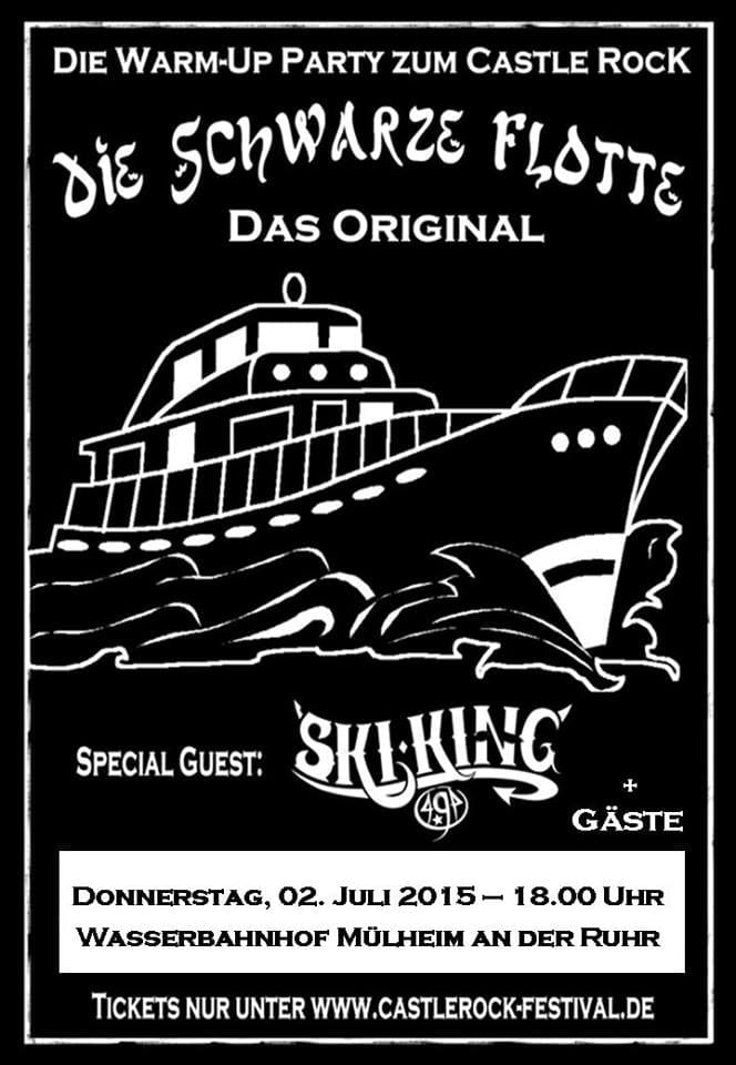 Flyer: Die Schwarze Flotte - Castle Rock Warm Up 2015