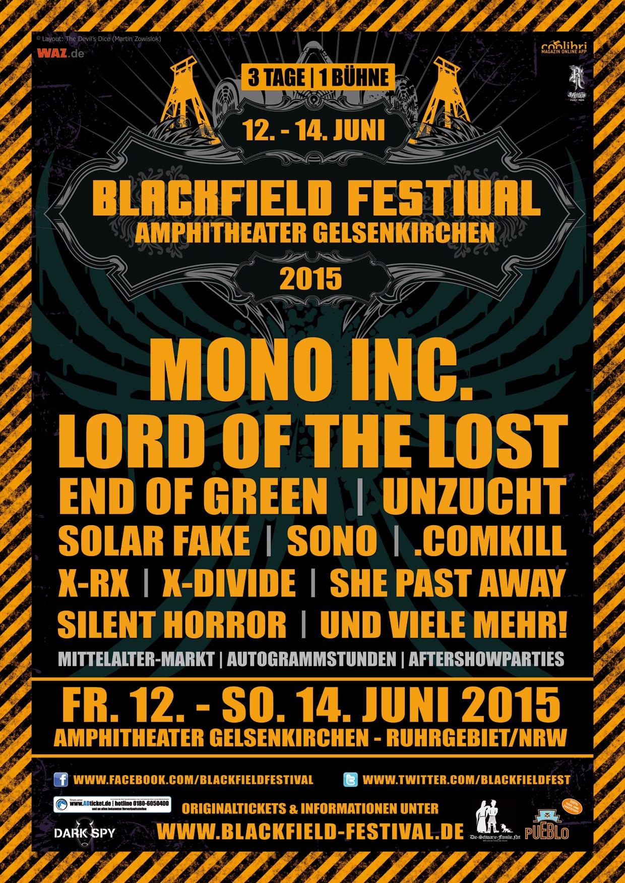 Official Flyer: Blackfield Festival 2015