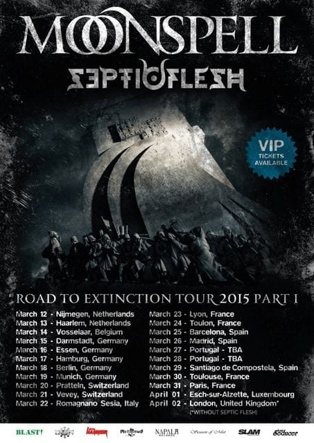Official Flyer: Moonspell Tour 2015
