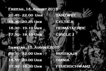 Burgfolk Festival 2015: Running Order