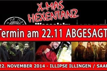 X-Mas Hexentanz abgesagt