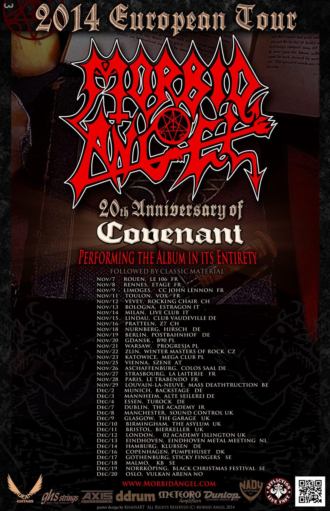 Flyer: Morbid Angel - Covenant Tour 2014