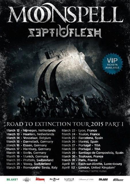 Flyer: Moonspell - Tour 2015