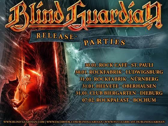 Flyer: Blind Guardian Release Parties