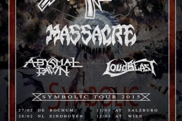 Flyer: European Death DTA Symbolic Tour 2015