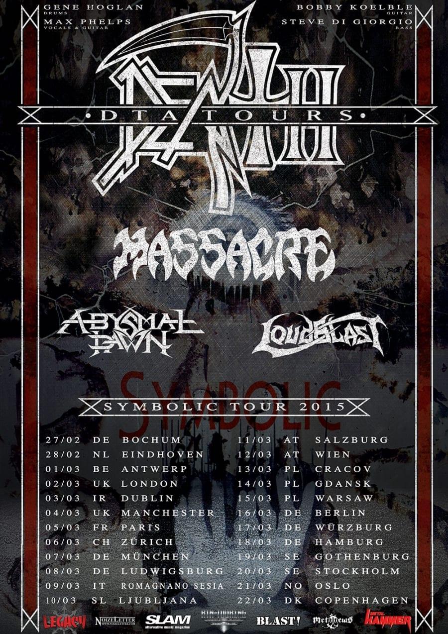 Flyer: European Death DTA Symbolic Tour 2015