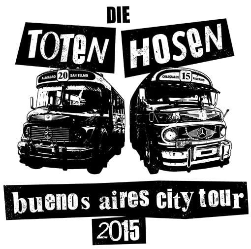 Flyer: Die Toten Hosen - Buenos Aires City Tour 2015