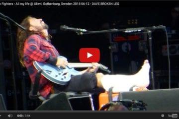 Dave Grohl singt auch mit gebrochenem Bein weiter