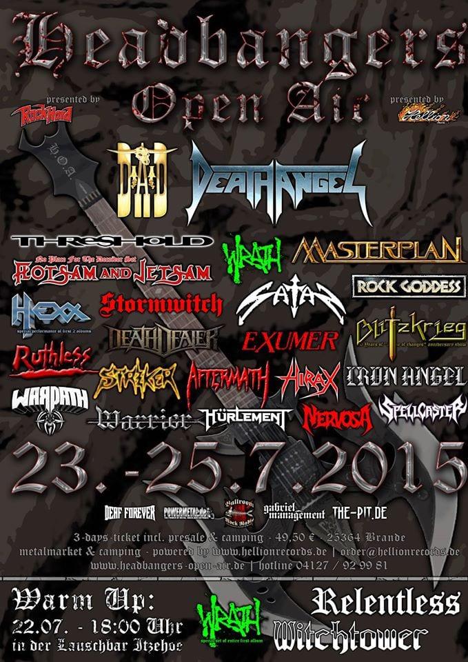 Official Flyer: Headbangers Open Air 2015