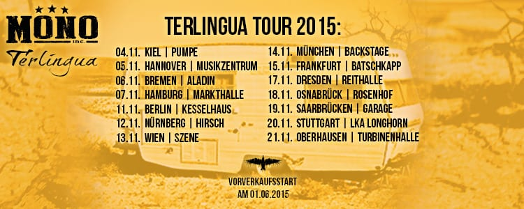 Mono Inc. - Terlingua Tour 2015